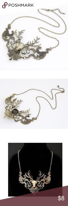 Oh Deer Necklace Brand new alloy necklace. Jewelry Necklaces