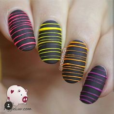 Tag @narmai -  This #flashbackfriday shows us a design I first did back in 2014 and it was so much fun that I had to repeat it. Twice! This is the most recent version from January 2015 it glows in the dark too  #nailart #manicuremonday #hairplug #hairporn #cute #girly