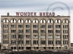 Wonder Bread Building Photograph - Buffalo NY - Ready To Hang Photo Art Seashell Centerpieces, Hallway Walls, Buffalo New York, Welcome Summer, Entry Tables, Clear Vases, Sand Crafts, Dinner Themes, Low Maintenance Plants