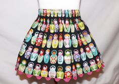Girl's Skirt Matryoshka Russian Nesting by PinkPoppiesClothing, $15.00
