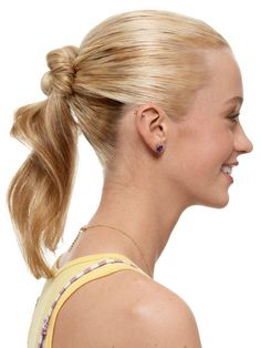 How to Get the Look:  As you get three-quarters of the way around, let the rest of your hair hang loose.    - Seventeen.com