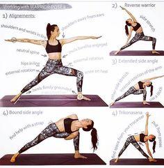 "Yoga Halona  (@halonayoga) on Instagram: ""Virabhadrasana II + Variations | Warrior 2: Powerful stretch for legs, groins, hips and chest,…"""