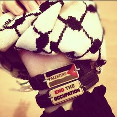 Want these bracelets! very proud to show support for my brothers and sisters in Palestine!