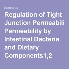 Regulation of Tight Junction Permeability by Intestinal Bacteria and Dietary Components1,2