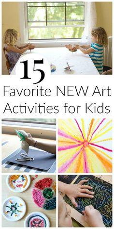15 Favorite New Art Activities for Kids