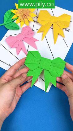 Cute Kids Crafts, Paper Flowers Craft, Paper Crafts Origami, Diy Crafts For Gifts, Paper Crafts For Kids, Diy Arts And Crafts, Flower Crafts, Creative Crafts, Origami Flowers