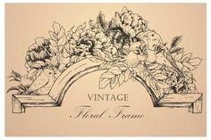 Vintage Vector Botanical Frame by Anastasia Lembrik on Creative Market