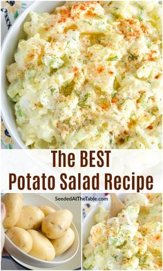 Look no further for the best potato salad recipe. This is my favorite homemade potato salad with eggs, celery, onion, pickles and a creamy potato salad dressing. You will love this classic recipe! Best Potatoe Salad, Making Potato Salad, Homemade Potato Salads, Best Potato Salad Recipe, Potato Salad Dressing, Creamy Potato Salad, Potato Salad With Egg, Classic Potato Salad, Easy Salad Recipes