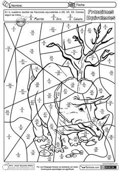 Suma de fracciones con mismo denominador con dibujo para colorear ...