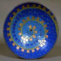 mosaic, bowl, spiral