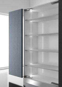 DOMUS Line's Diva is a linear recessed profile with symmetrical projection. Ideal for installation inside cabinets and under shelving.