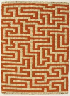 Anni Albers, Red Meander, 1954  Linen and cotton.  65 x 50 cm (25.625 x 19.687 inches)  Private Collection  ©2008 The Josef and Anni Albers Foundation / Artists Rights Society (ARS), New York