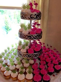 Pineapple & Flamingo Glitter Cupcake by CelebrationsbyMaria