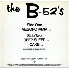 The B-52's - Mesopotamia!!