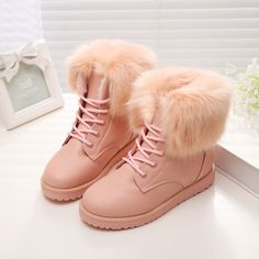 Cheap Sweet Detachable Wool Stitching Strappy Snow Boots For Big Sale!Sweet Detachable Wool Stitching Strappy Snow Boots, Height Increasing Shoes, Detachable Wool design makes the boots sweet and warm! Cute Shoes For Teens, Trendy Shoes, Kid Shoes, Girls Shoes, Footwear For Girls, Cute Boots For Women, Fashion Boots, Sneakers Fashion, Shoes Sneakers