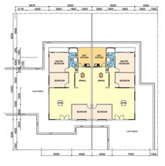 house plans for 2 bedroom semi-detached bungalow - Google Search ...
