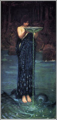 Pre Raphaelite Waterhouse 1892...reminds me somewhat of the scene in LotR with Galadriel and Frodo with the Seeing Pool.