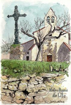 Luzech, Notre Dame de l'île | by Cat Gout