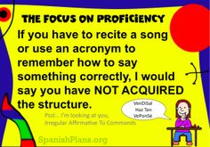 Acquisition by Acronym: Where does it fit in a proficiency based classroom?