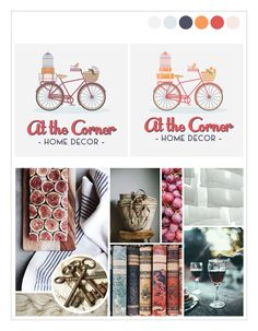 Branding Collateral for At the Corner Home Boutique #logo #branding #antiqueshop