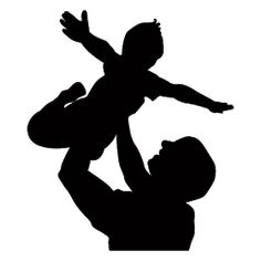 Dad Tattoos, Family Tattoos, Cartoon Drawings, Easy Drawings, Daddy Daughter Photos, Mother Photos, Baby Silhouette, Kindergarten Art Projects, Textile Pattern Design
