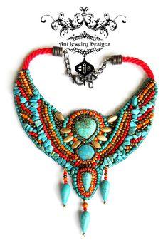Elama - gods of egypt - embroidery collar bib statement necklace Cleopatra inspired  2017 fashion jewelry