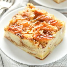 An easy bread pudding recipe made with challah bread and other simple ingredients. This bread pudding is total comfort food and a family favorite recipe!