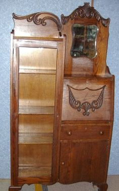Victorian Furniture, Antique Furniture, Wood Furniture, Antique Wardrobe, Secretary Desks, Antique Desk, Upcycled Furniture, Farmhouse Decor, Cabinets