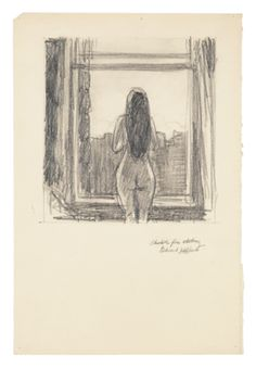 Edward Hopper (1882–1967), Standing Female Nude by Window (Sketch for Etching), 1915–18. Graphite pencil on paper, 14 15/16 × 10 1/16 in. (37.9 × 25.6 cm). Whitney Museum of American Art, New York; Josephine N. Hopper Bequest  70.831