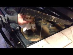 Clean under your stove top in seconds & with NO Scrubbing! - YouTube
