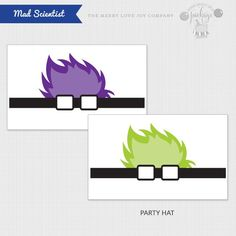Mad Scientist Themed Party Hats