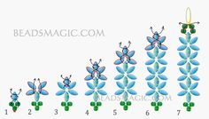 FREE Pattern for earrings JASMINE. Page 2/2. Use: seed beads 11/0, superduo or twin beads. Beads Magic
