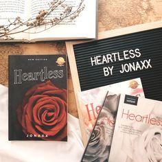 Heartless by jonaxx Wattpad Authors, Wattpad Books, Book Flatlay, Victoria Beckham Outfits, Book Photography, Instagram Accounts, Amber, Characters, Goals