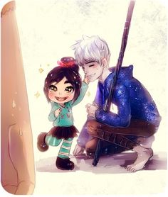 ROTBTFD: Vanellope and Jack Frost Cross Overs
