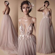 Backless evening dress - 2018 Berta Evening Wear Formal Dresses Sheer Tulle Lace Floral Spaghetti Sweep Train Backless Holiday Party Prom Dress from bettybridal – Backless evening dress Straps Prom Dresses, V Neck Prom Dresses, Lace Evening Dresses, Bridesmaid Dresses, Ivory Prom Dresses, Long Party Gowns, Prom Party Dresses, Wedding Dresses, Floral Formal Dresses