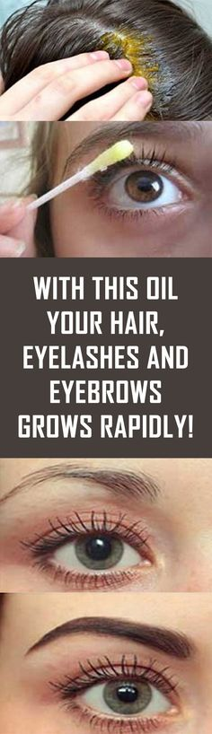 With This Oil Your Hair, Eyelashes And Eyebrows Grows Rapidly! With This Oil Your Hair, Eyelashes And Eyebrows Grows Rapidly! Maquillaje Kylie Jenner, How To Grow Eyebrows, Growing Eyebrows, Regrow Eyebrows, Make Eyelashes Grow, How To Grow Nails, Tips Belleza, Hair Health, Grow Hair