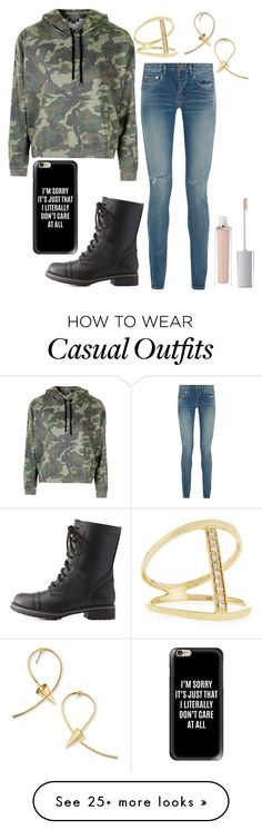 """Casual day."" by gracenerada on Polyvore featuring Topshop, Yves Saint Laurent, Charlotte Russe, Casetify, ArtDeco, Jules Smith and Sydney Evan"