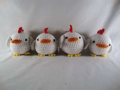 Chickens! need to improve my crochet pattern reading skills but its worth it!