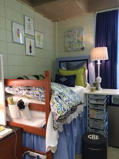 Lovely Miller Dorm, LSU. Bedding By Blue Moon Bedding. Bedside Table Is Container  Store