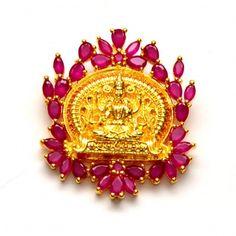 Anvi's rubies lakshmi pendent