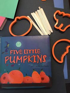 Five Little Pumpkins Preschool Halloween craft