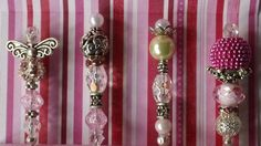 Shabby Chic Stick Pins 4 in a set  Great Gift Idea by tara48, $12.00