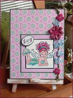 pink fairy card! Thinking about creating my own for her birthday!