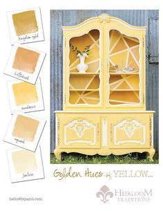 Heirloom Traditions Yellow Color Card - Yellow Hutch Traceys Fancy