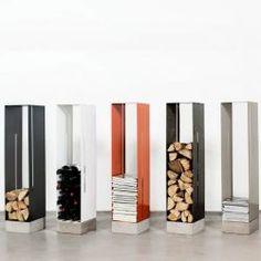 Manhattan Cabinet Vedställ - Röshults - Dennys Home Wood Storage Rack, Firewood Storage, Cabinet Storage, Manhattan, Range Buche, Log Holder, Wood Images, Design Bestseller, Low Cabinet