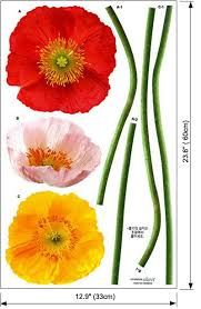 poppy wall decal - Google Search