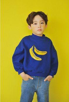 Kids Clothing Top Banana Warm Made in Korea