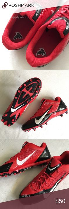 watch cf540 8c763 ATLANTA FALCONS Nike Alpha Pro TD Football Cleats The Nike Alpha Pro TD PF  Men s Football Cleat offers support and low-profile cushioning ideal for  skill ...