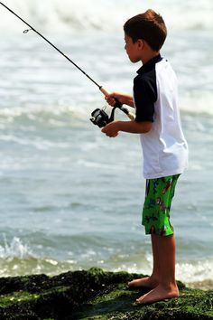 If there was ever a time to teach a kid to fish the surf this is it