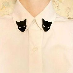 Free shipping Min.order $15 (mix order)    Black Cat Woman Girl Blouse Shirt…